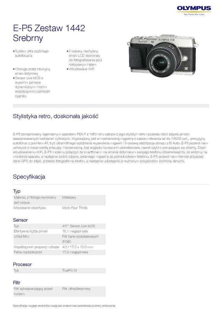 Olympus PEN E-P5 - specyfikacja 1/9