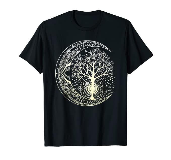 Tree of life hippy trees crop top tshirt
