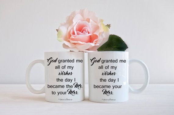 Mr Mrs Husband Wife Wedding Gift Mug Set Gift Idea