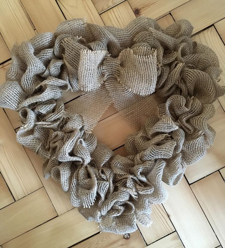 A personal favourite from my Etsy shop https://www.etsy.com/uk/listing/515642852/heart-handmade-burlap-wreath