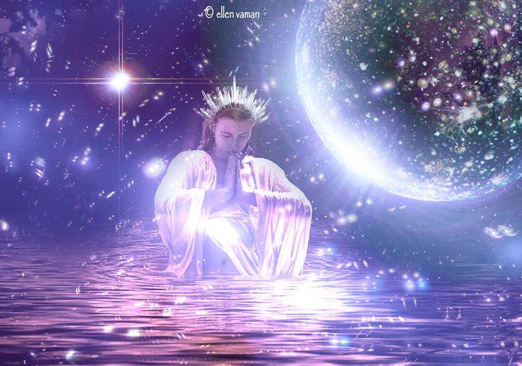 ☾⊙☽ New Moon   Art © Ellen Vaman www.facebook.com/ellen.vaman1 1895.3 #EllenVaman #DigitalArt #Moon #Astrology #Goddess #Gaia #Spirituality #Love #Light #Colours #Consciousness