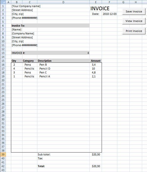 75 best EXCEL images on Pinterest Microsoft excel, Drop down - Invoice Template Excel 2010