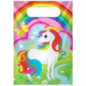 8 arco iris unicornio bolsas de fiesta bolsas de botín