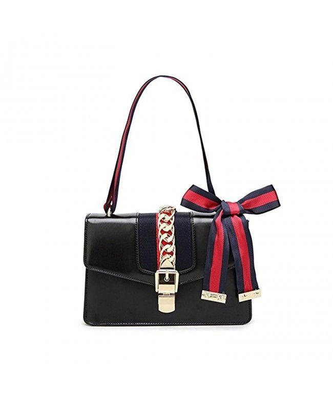 Beatfull Designer Handbags for Women Fashion PU Leather Shoulder Bag Cross  Body Bag with a Bow Tie - New Black - C5189ZR69U6  Bags  Handbags   Tophandlebags ... 8c464649a2e17