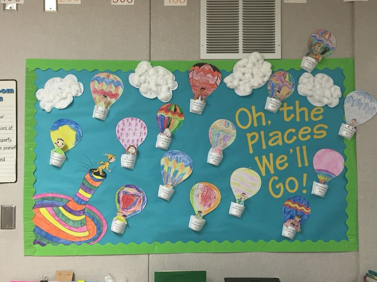 Oh the places you'll go! We made this for Dr Seuss' birthday month (March) after reading the book!