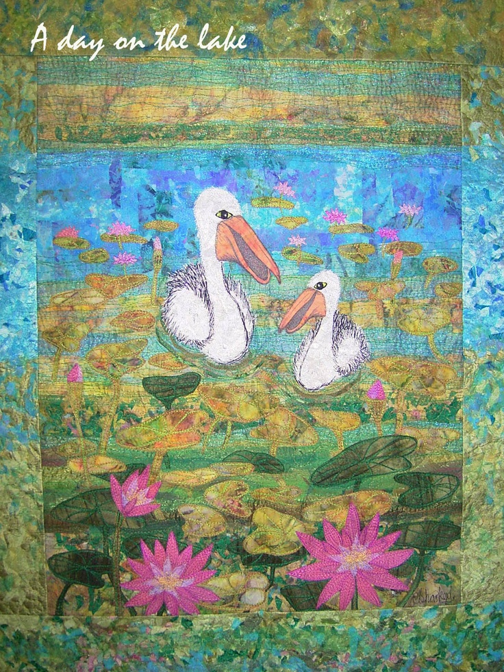 Missing Quilt....disappeared Nov 2012 A Day on the Lake  www.carolinesharkey.com.au