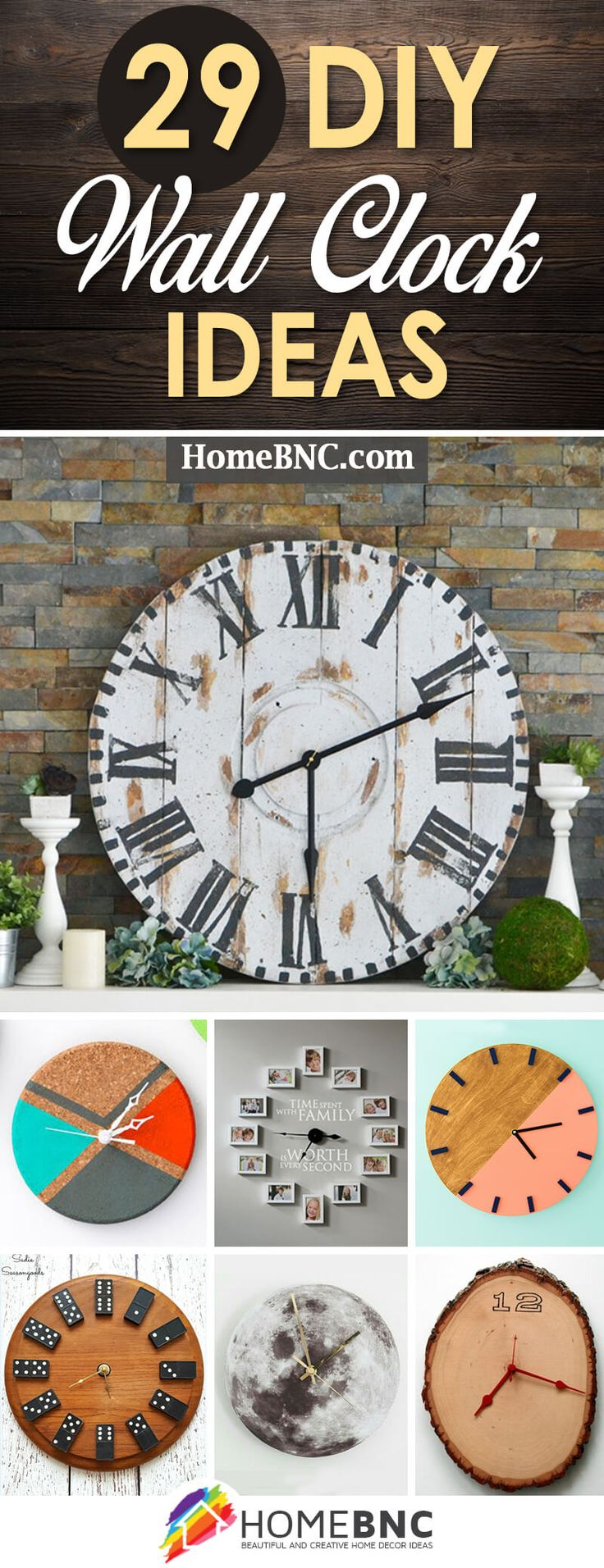 Best 25 homemade wall clocks ideas on pinterest painted wood 29 diy wall clock ideas that will give your interior a unique look amipublicfo Gallery