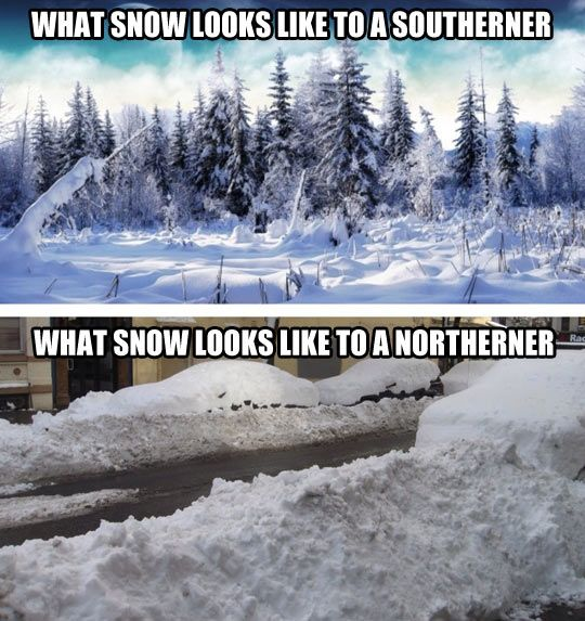 How you see snow depends on where you live…