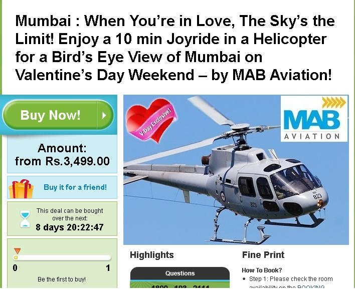 This Valentine Day enjoy Helicopter Ride in just Rs.3500/- at MAB Aviation! Contact us 9881204708. Thanks