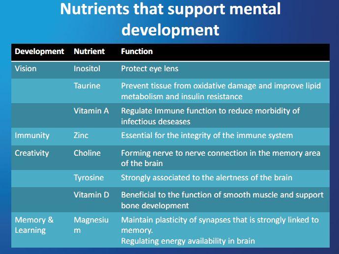 Hollandske Lady Smart Steps: Ernæring Indvirkninger på kognitiv udvikling for børn ~ Shamiera Osment