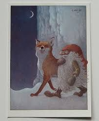 Image result for andy moss artist elf and fox in snow