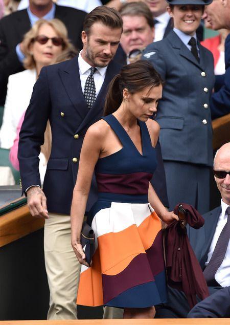 Victoria Beckham out dresses everyone at Wimbledon 2014. www.handbag.com