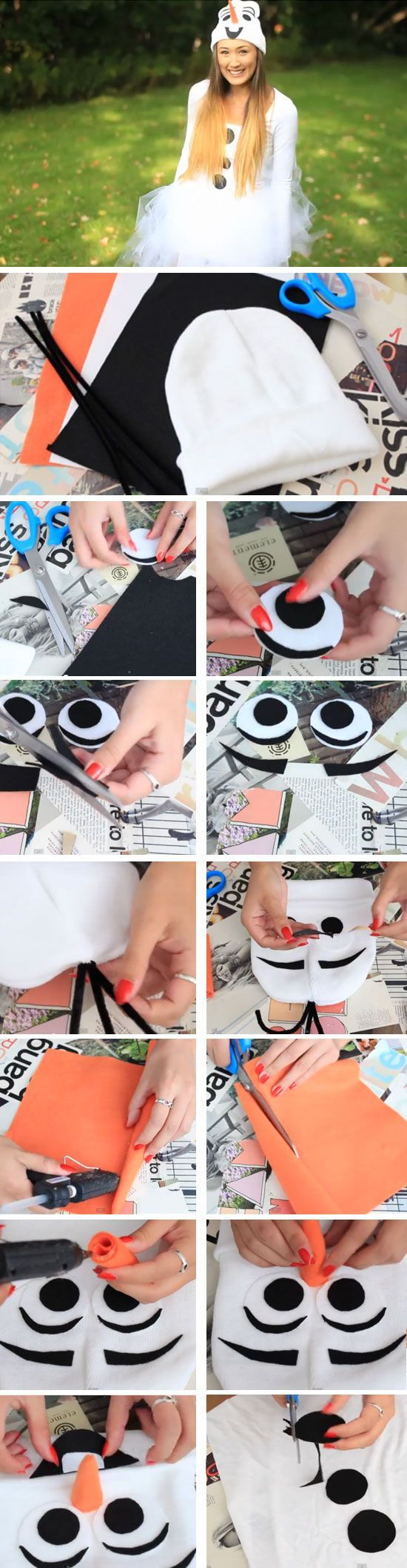 Last Minute DIY Halloween Costumes for Teens | Adorable Olaf                                                                                                                                                                                 More
