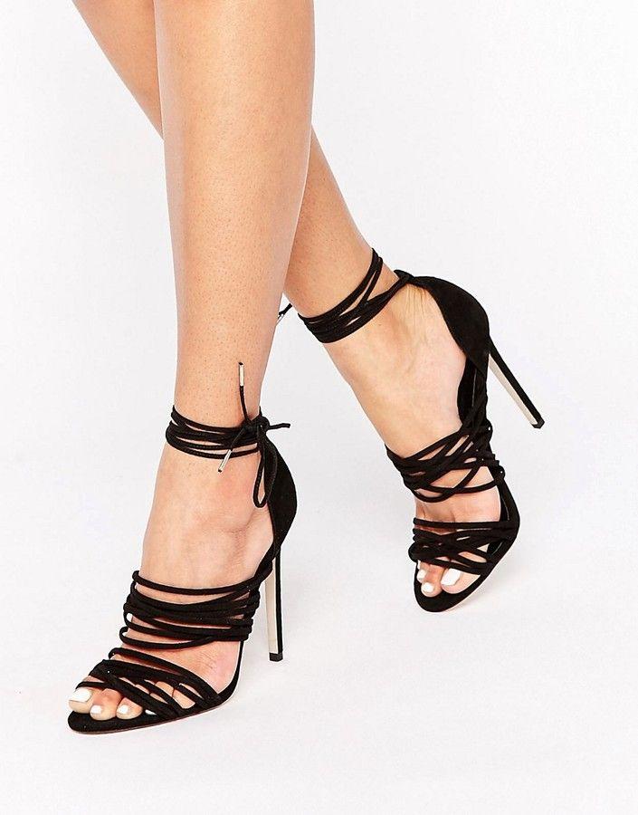 ASOS HAZY Lace Up Sandals