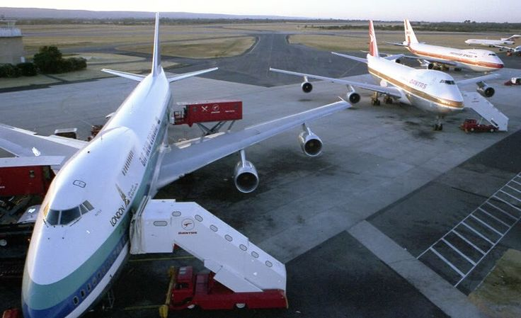 Air New Zealand 747-219 at Perth Airport circa mid 1980's. Image via google