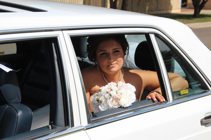 Cleveland Winery Lancefield Vic  White Mercedes-Benz Wedding Car
