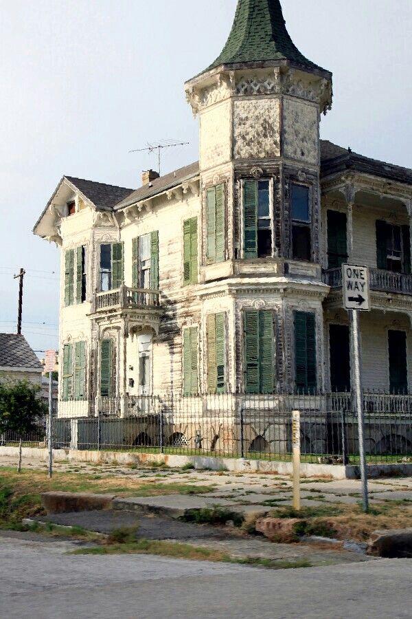 Abandoned Beach House in Galveston, Texas