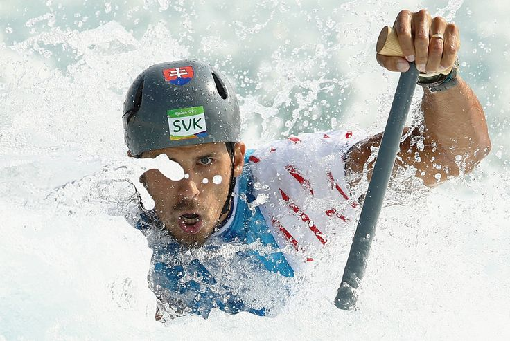 Mark Kolbe/Getty Images Matej Benus of Slovakia competes during the Canoe Single (C1) Men's Semifinal on Day 4 of the Rio 2016 Olympic Games at the Whitewater Stadium on Aug. 9, 2016.