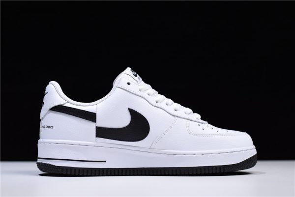 3258db9696fa Supreme x Comme Des Garcons x Nike Air Force 1 Low White Black Shoes-1