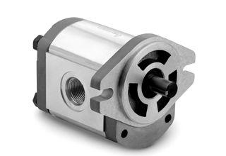 Hydraulic gear pump features all-aluminum construction