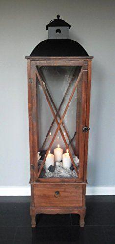 XXL Holz Laterne mit Schublade - Windlicht Metalldach braun - 140 cm - Landhaus Shabby Chic Unbekannt http://www.amazon.de/dp/B017ZZKVV0/ref=cm_sw_r_pi_dp_1R5wwb03AYJC9