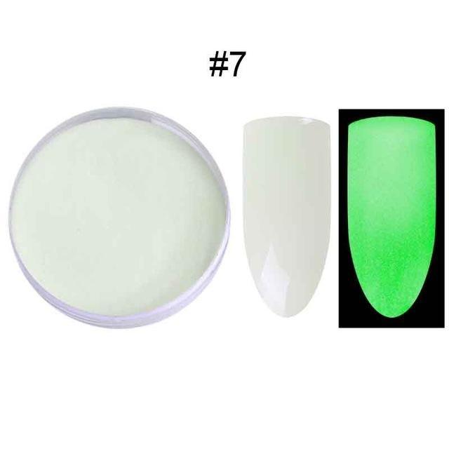 1 Box Fluorescent Nail Glitter Powder Luminous Glow in the Dark Nail Art Dust
