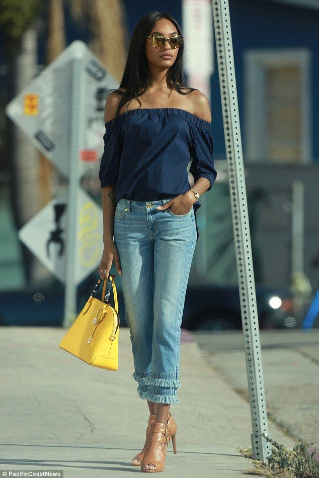 Model moment:She's one of the most in demand models of the moment. And Jourdan Dunn lent ...