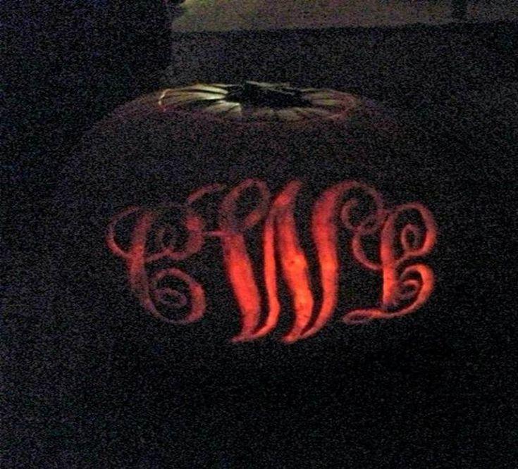 monogram pumpkin templates - monogram pumpkin carving tsm halloween fall