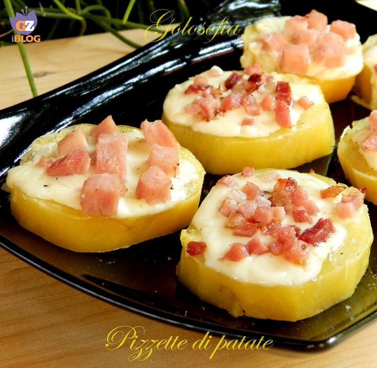 Pizzette di patate, molto semplici da preparare e ricche di gusto! potete servirle come contorno o goloso antipasto..;)