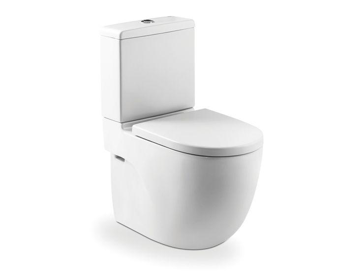 Roca   Meridian   BTW Close Coupled Toilet Suite S Trap: 90mm - 160mm. P Trap: 180mm. WELS 4 Star, 4.5/3 ltr flush. Average flush: 3.5 ltrs. Projection: 600mm. Back inlet.
