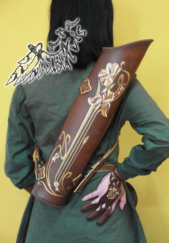 Leather quiver Iris by FantasyLeatherCraft on Etsy