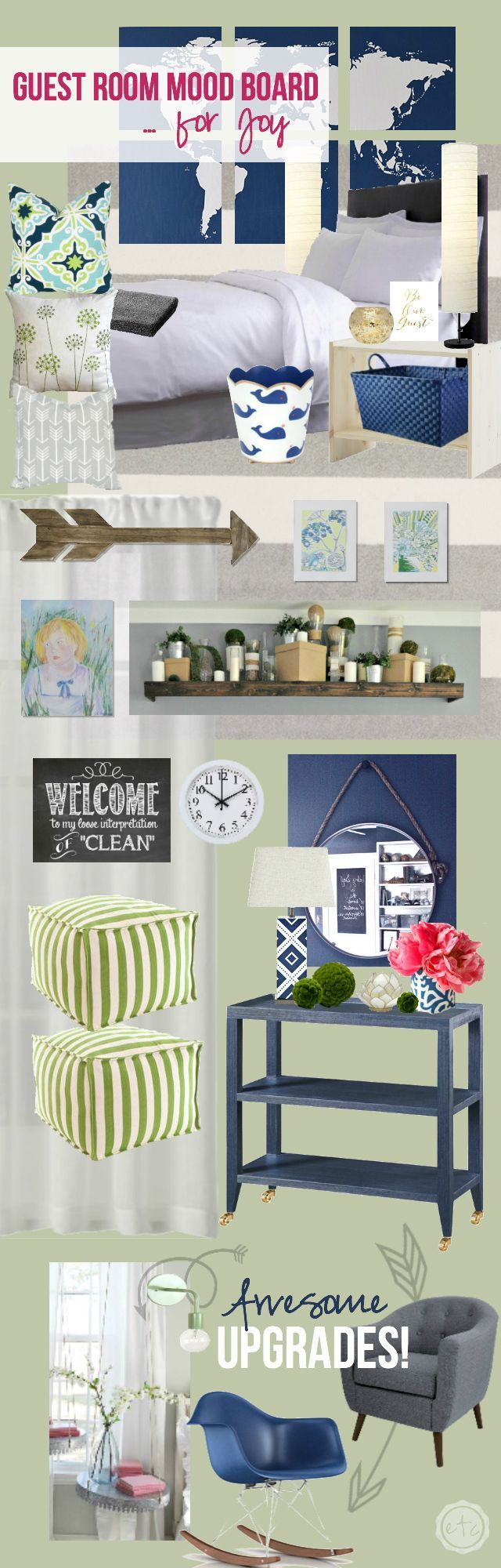 Guest Room Mood Board... for Joy! - Happily Ever After, Etc.
