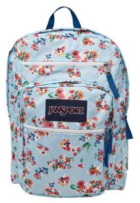 Mochila Jansport Big Student Azul, com estampa floral liberty,  tag da marca e…