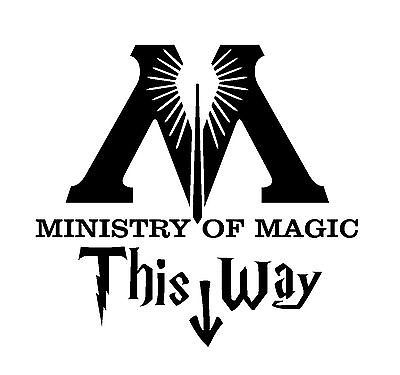 Harry Potter Ministry of Magic Bathroom Quote - oracal vinyl sticker decal home