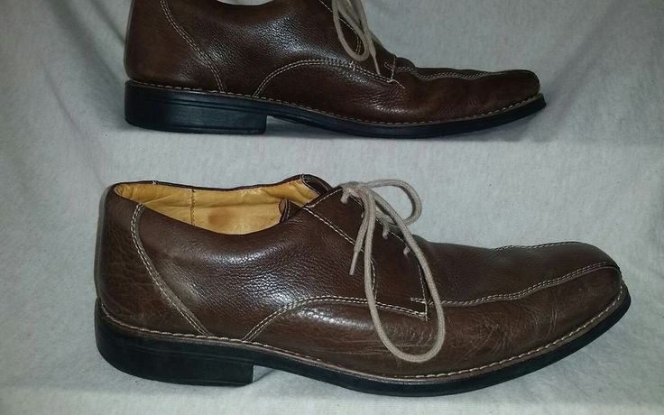 SANDRO LIMITED Lenox MENS Brown Leather Casual Shoes Loafers Lace Up Size 11 D #Sandro #Oxfords