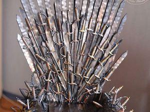 Делаем миниатюрный железный трон из сериала «Игра престолов». Используем подручные материалы | Ярмарка Мастеров - ручная работа, handmade