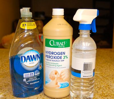 The Jones Way...: DIY Household Cleaners -- 2 cups peroxide & 1/2 cup Dawn mixed together in a spray bottle -- clean walls, baseboards -- definitely trying this!
