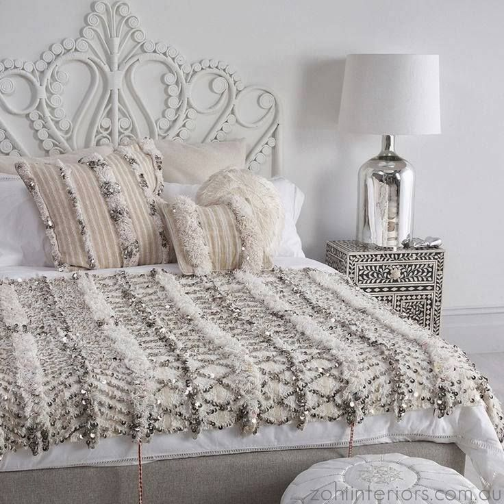A gorgeous bedroom spotted on Zohi Interiors.