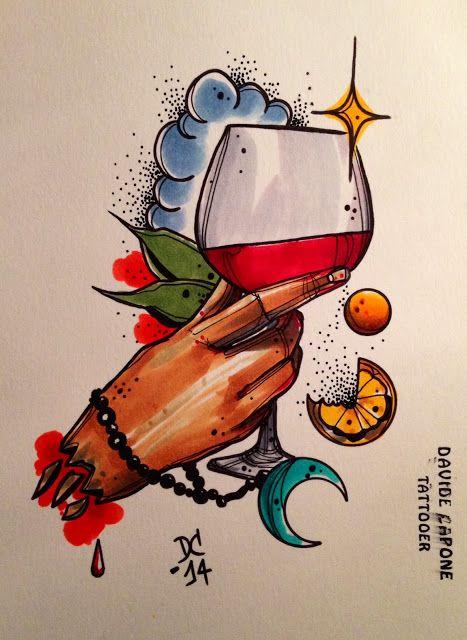 Davide Capone Tattoos: Glass..