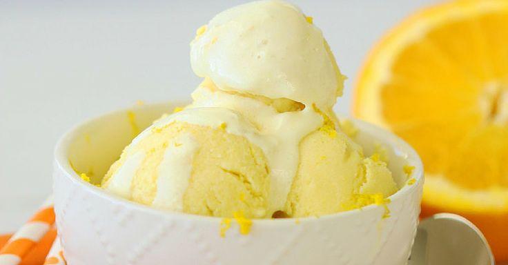 Domácí pomerančová zmrzlina bez rafinovaného cukru