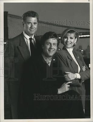 1990 Press Photo John Larroquette, Harry Anderson, Markie Post for Night Court
