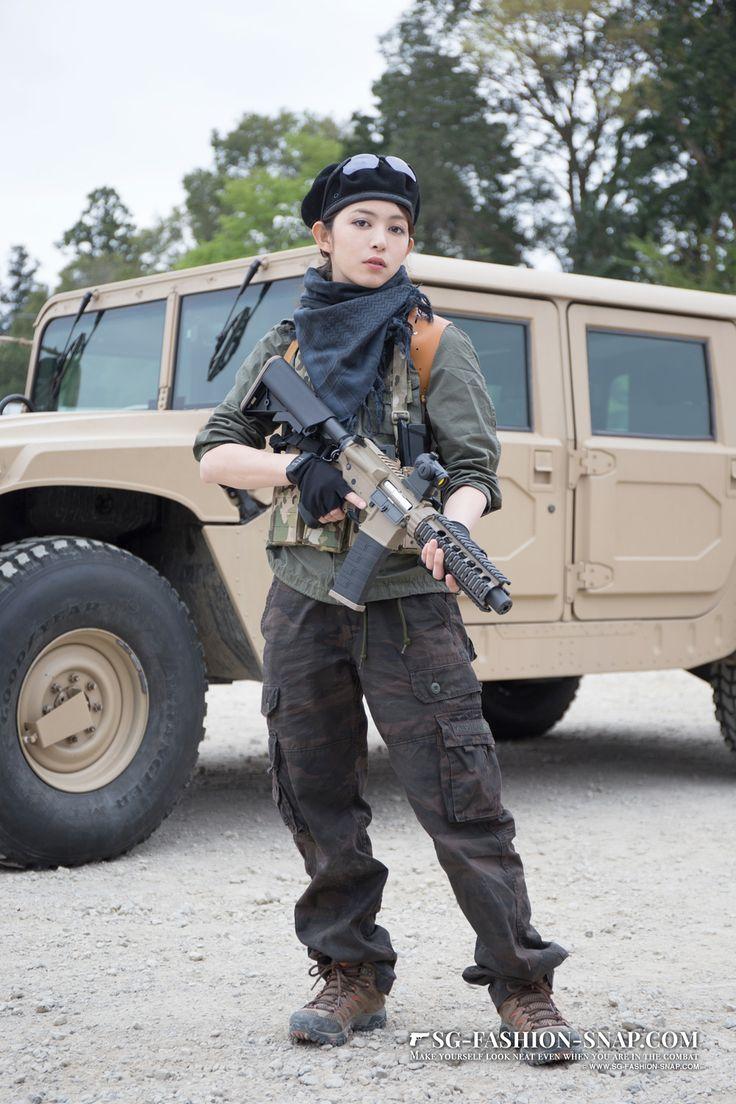 岩佐真悠子,サバゲー, 装備, サバイバルゲーム, 格好, ファッション, 服装, peace combat, Alpha industries, アルファー,グローブ,5.11 tactical