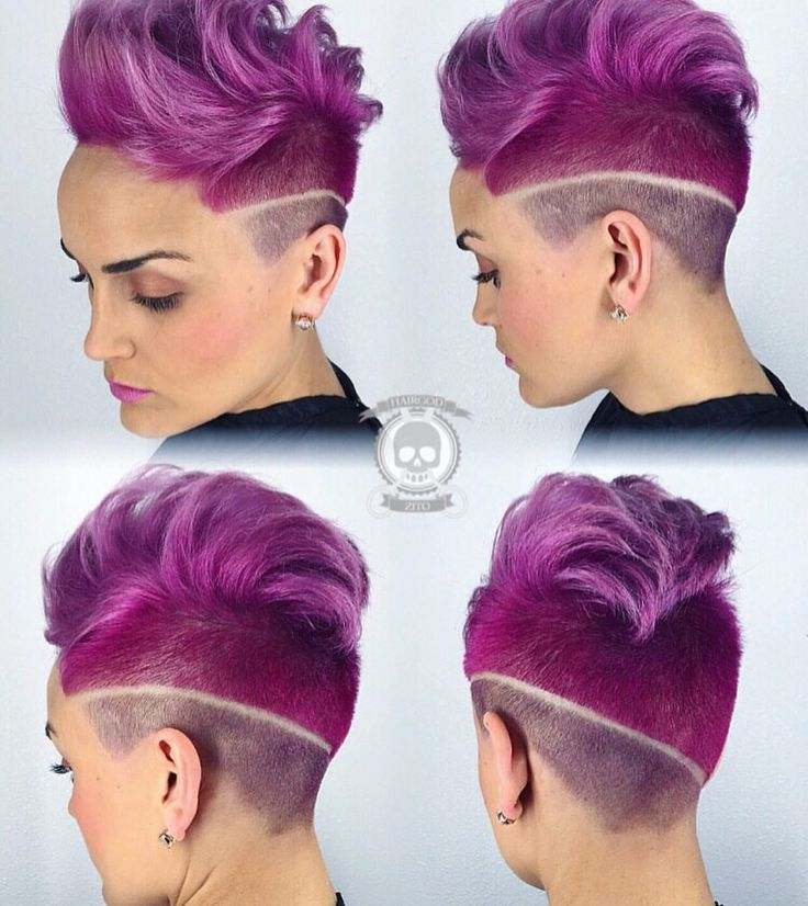 Magenta Madness by the Hair God of Louisiana  @hairgod_zito Outrageous barber art too! Mohawk Barber Haircut Magenta hair color instagram.com/hotonbeauty
