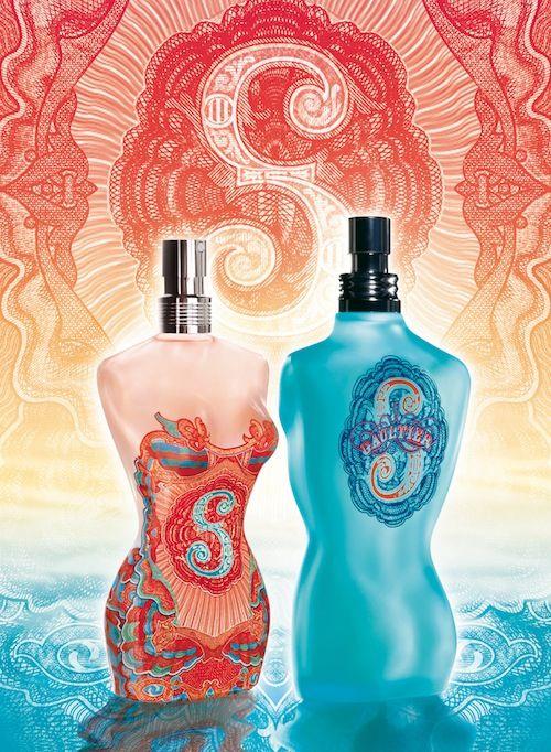 Jean Paul Gaultier Parfums Femme classique et le mâle - Edition Eté 2007 Sous le soleil exactement.