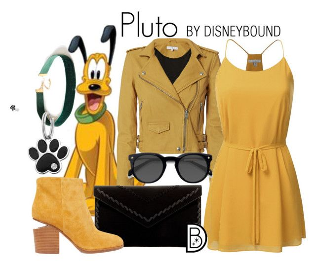 """Pluto"" by leslieakay ❤ liked on Polyvore featuring IRO, Danielle Nicole, Alexander Wang, EyeBuyDirect.com, disney, disneybound and disneycharacter"