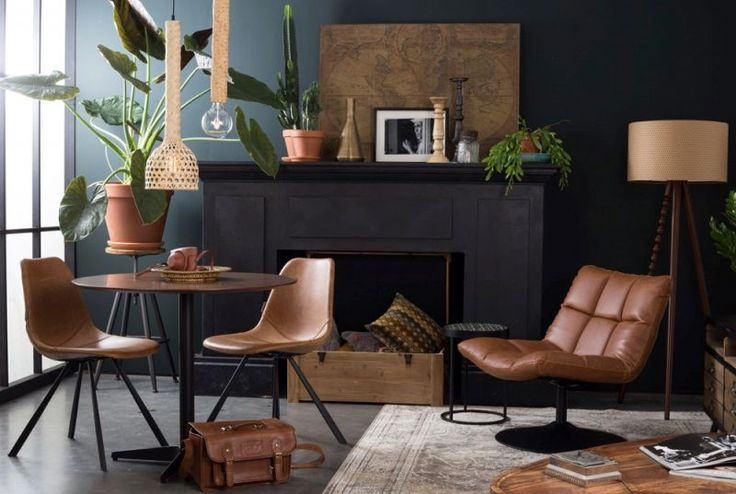 Deze Bar loungestoel van Dutchbone lijkt zo uit de jaren zeventig te komen, maar dan met een moderne twist.