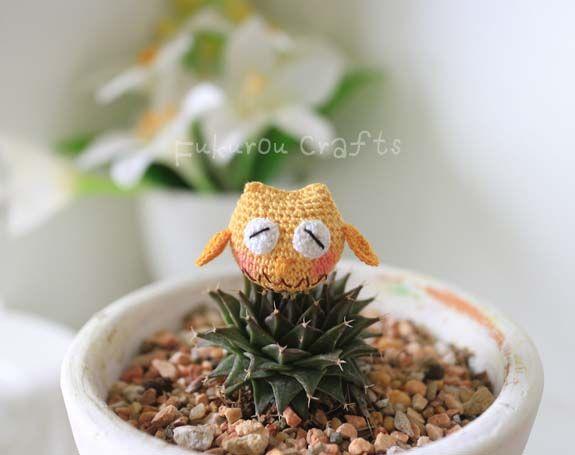 fukuroucrafts: Cute Tiny Crochet Owl Doll, Amigurumi Tiny Owl dol...