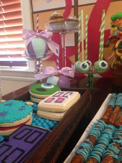 Monster inc Birthday Party Ideas - door cookies