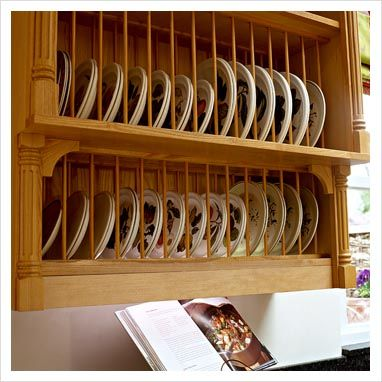 Wall Mounted Plate Rack In Classic Kitchen House