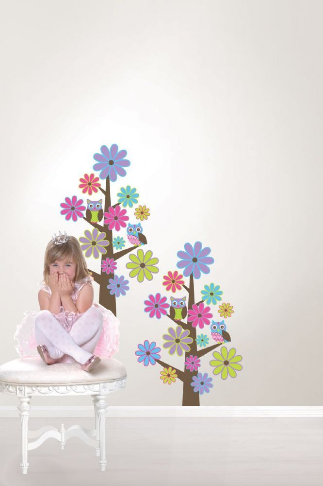 these fancy and fun wall stickers create 2 enchanted owl trees for your kids room mod